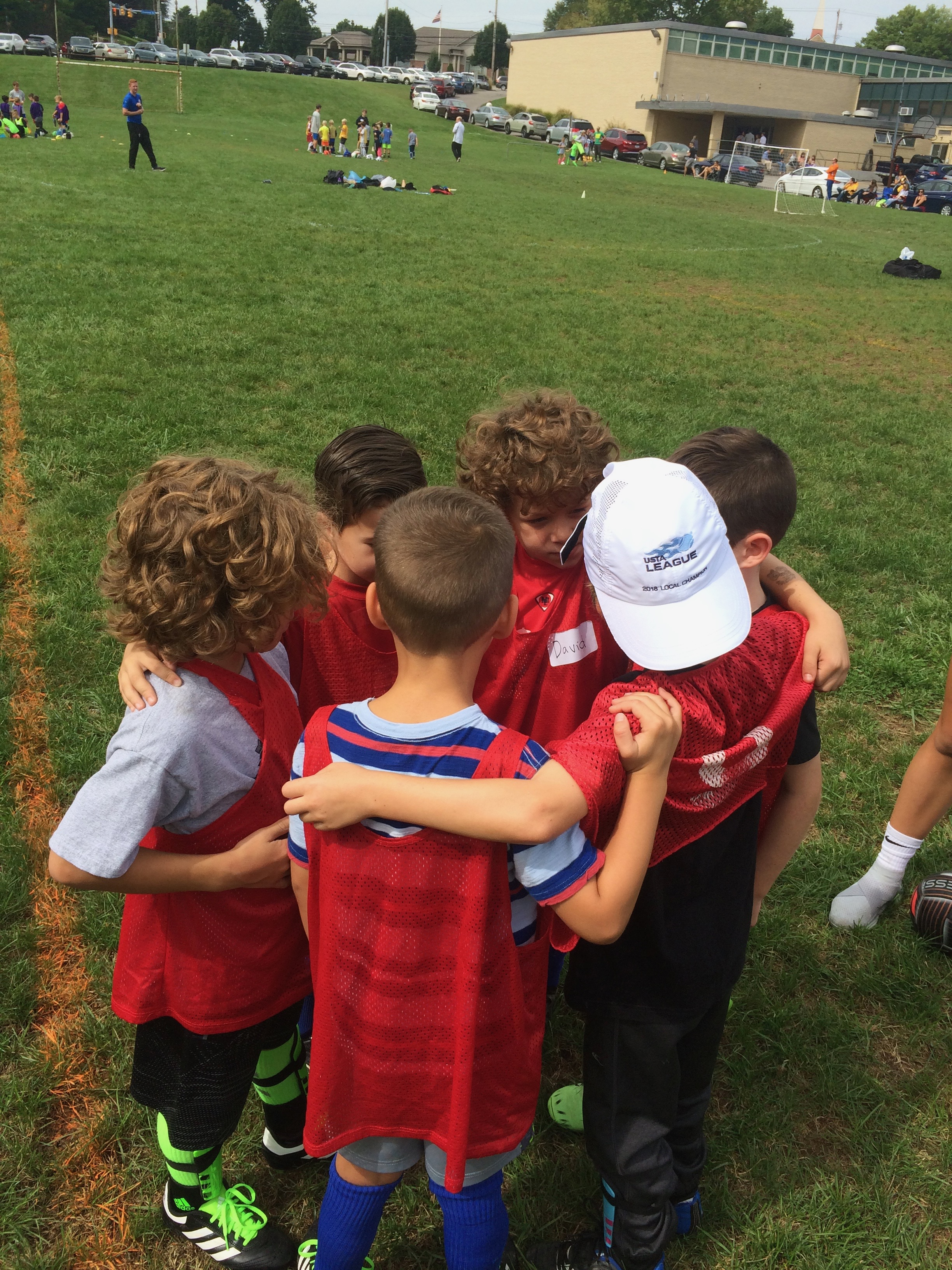 Boys U9 Huddle